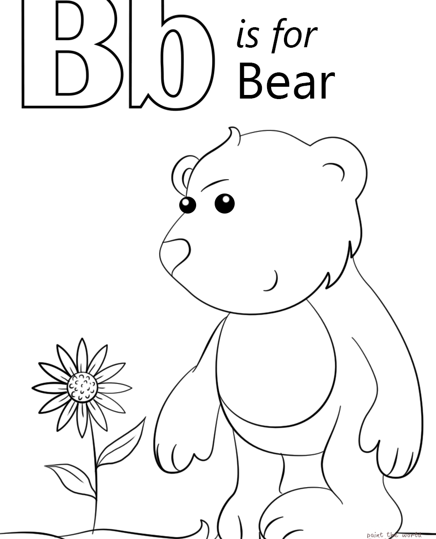 849x1050 Letter B Coloring Pages Download Free Coloring Sheets