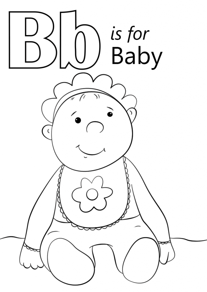 724x1024 Letter B Is For Baby Coloring Page Kids
