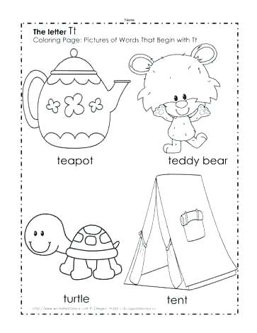 363x470 Letter T Coloring Pages Printable Letter T Coloring The Letter T