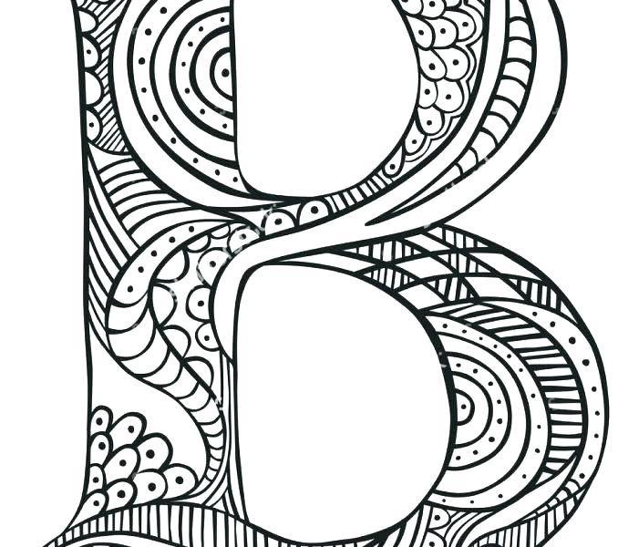 678x600 Coloring Pages Letter B
