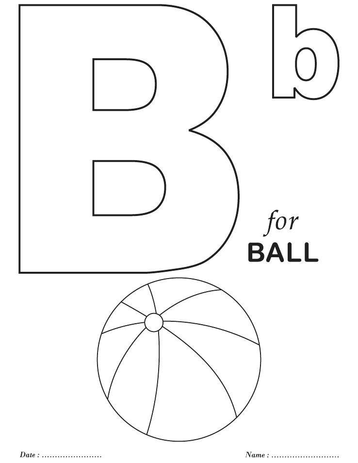738x954 B Coloring Page Alphabet Color Pages Packed With Alphabet B