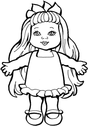 333x480 Baby Doll Coloring Pages