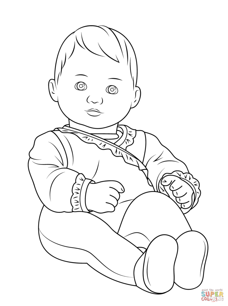 764x1024 Baby Doll Coloring Pages Get Bubbles