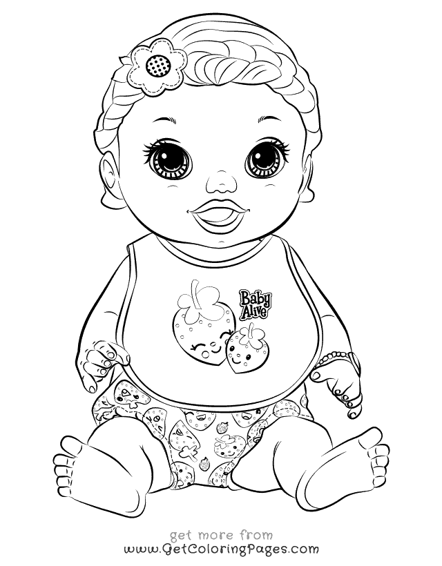 640x820 Baby Alive Coloring Pages