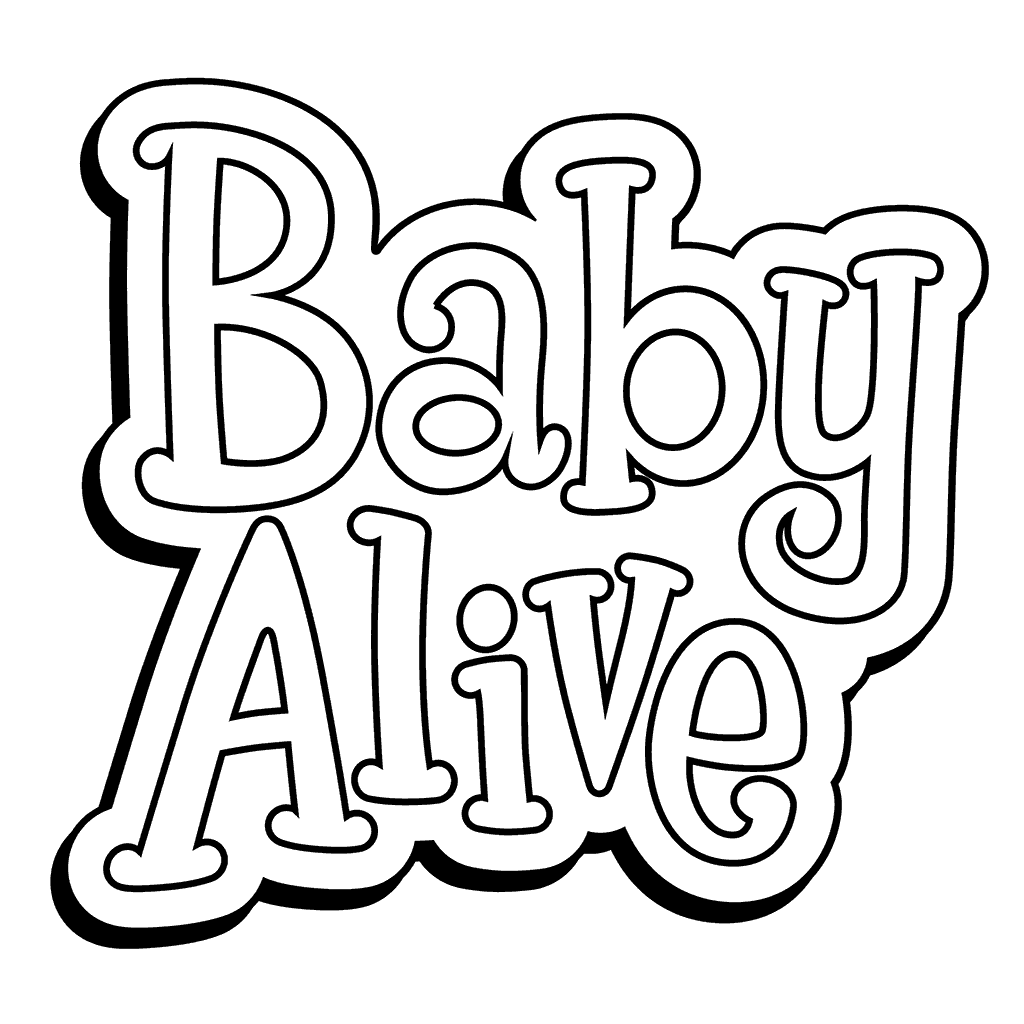 1024x1024 Baby Alive Coloring Pages