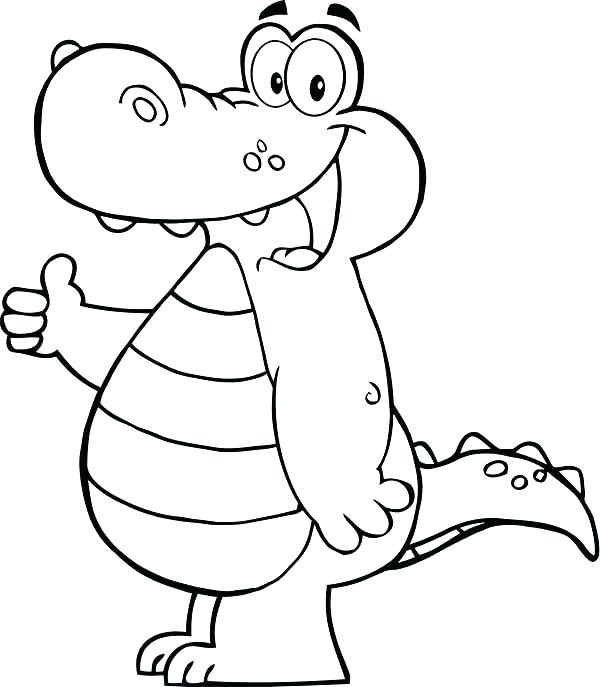600x687 Alligator Coloring Pages Alligator Coloring Page Alligator
