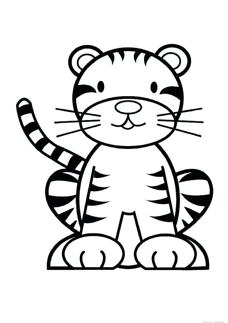 736x1041 Baby Color Pages Cute Tiger Coloring Pages Printable Tiger