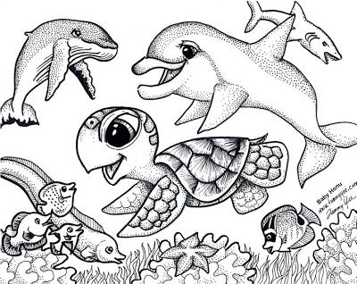 400x318 Baby Animals Pictures To Color