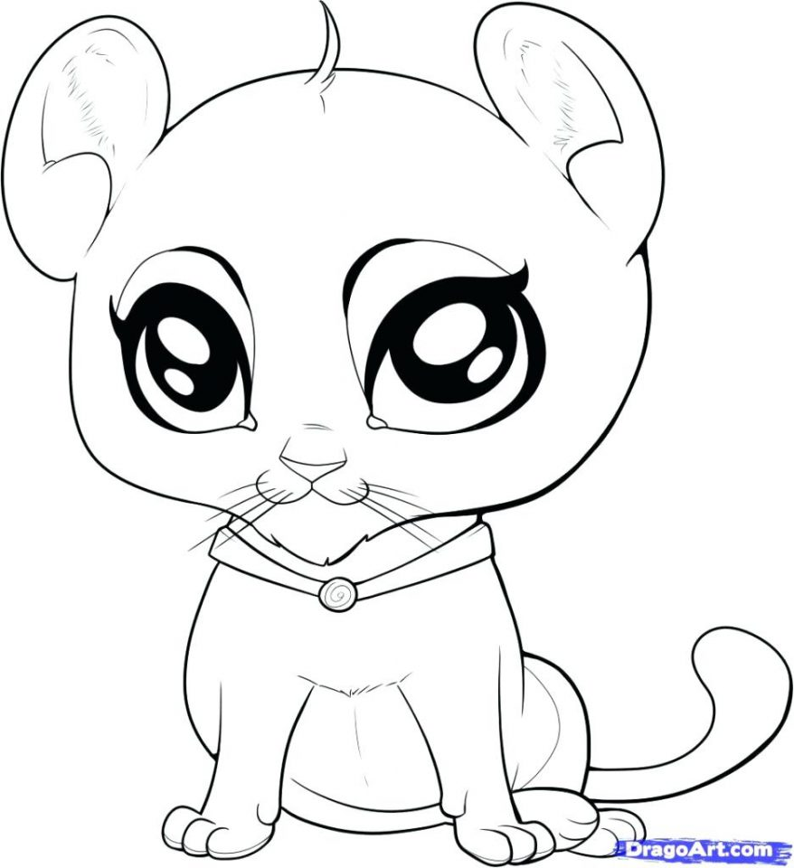878x960 Cute Baby Animal Coloring Pages Dragoart