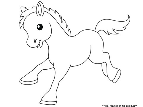 482x361 Pony Baby Animals Coloring Pages For Kidsfree Printable Coloring