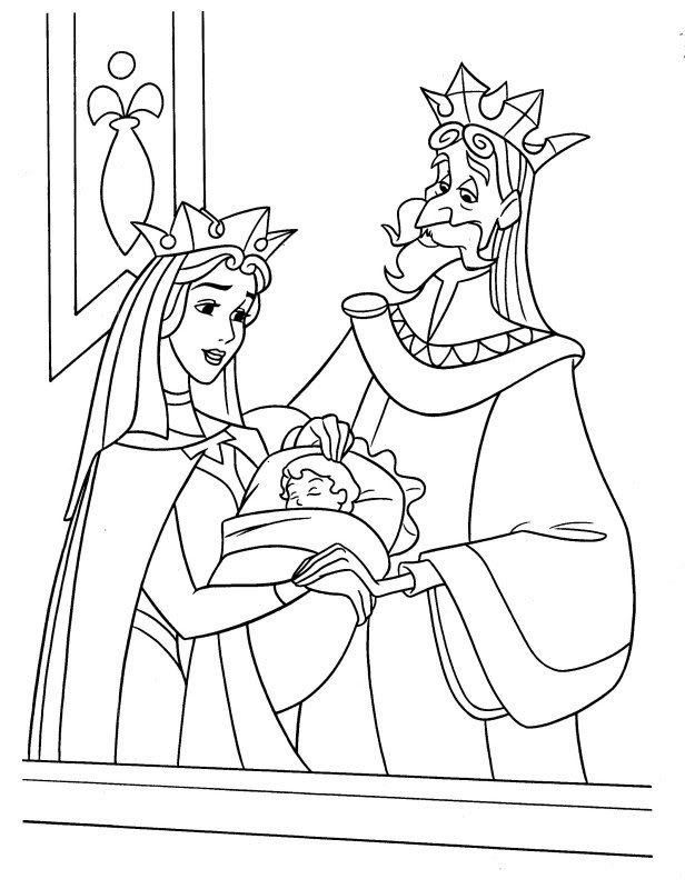 Baby Aurora Coloring Pages