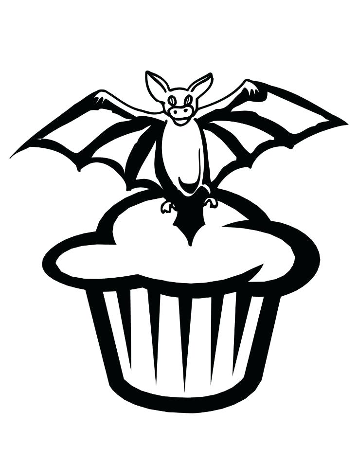 736x952 Cupcake Color Page Coloring Pages Of Bats Bat Cupcake Coloring