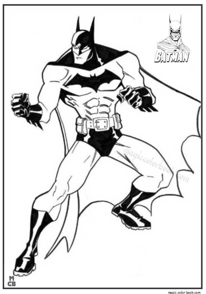 685x975 Batman Free Printable Coloring Pages