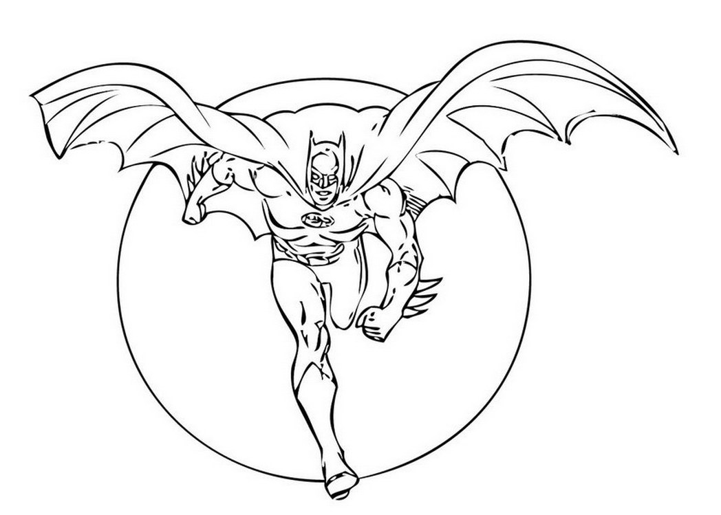 1048x749 Coloring Page Batman Flying Wings Coloring Pages For Free