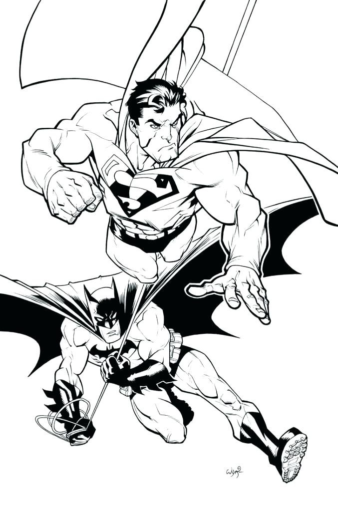 677x1024 Batman And Superman Coloring Pages Batman Spiderman Coloring Pages