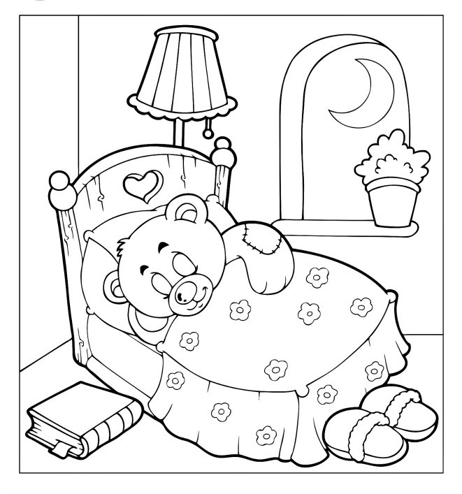 661x707 Beautiful Teddy Bear Coloring Pages