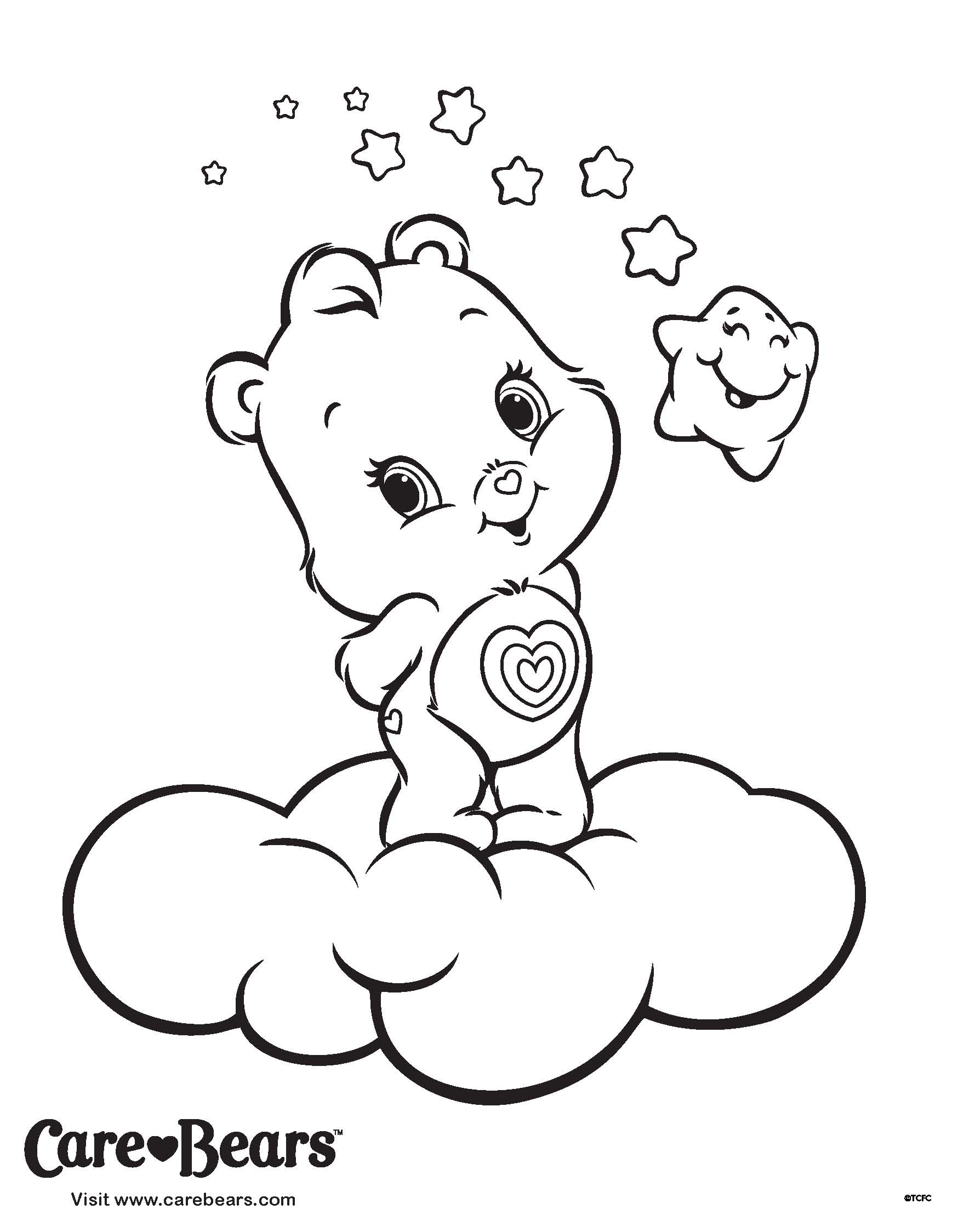 1748x2248 Care Bears Coloring Pages