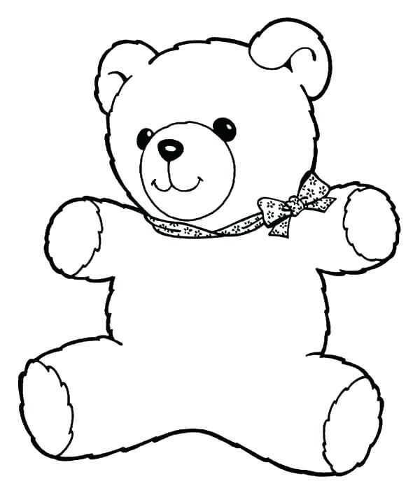 600x718 Cute Bear Coloring Pages Teddy Bear Coloring Pages Free Printable