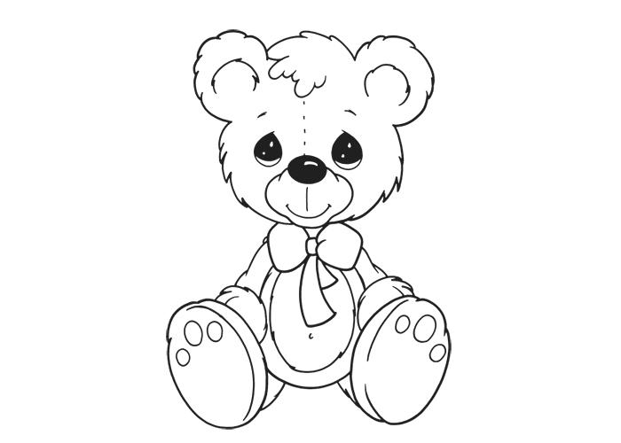 700x500 Cute Bear Coloring Pages Teddy Bear Heart Coloring Page Panda Bear