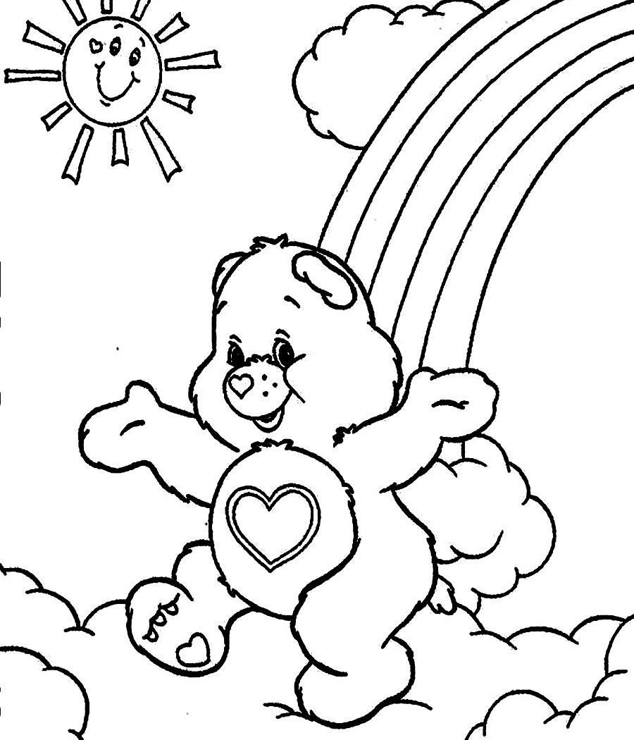 900x1050 Brilliant Care Bear Coloring Pages Baby Bears Online Birthday Pdf