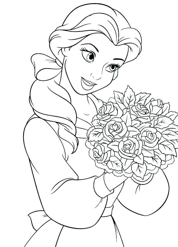 615x852 Disney Belle Coloring Pages Belle Coloring Pages Belle Coloring