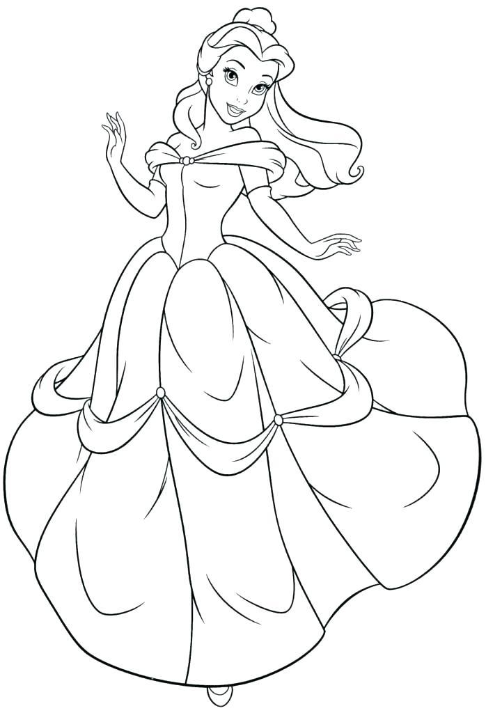 698x1024 Belle Coloring Page Belle Coloring Book Princess Belle Coloring