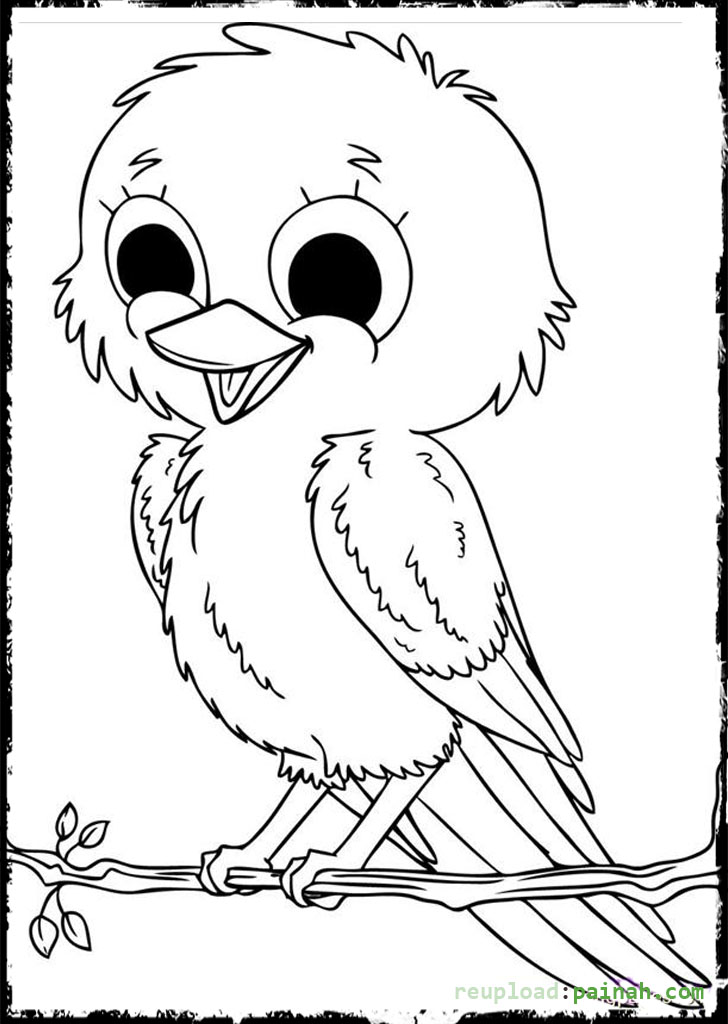 728x1024 Bird Coloring Pages Parent And Baby Bird