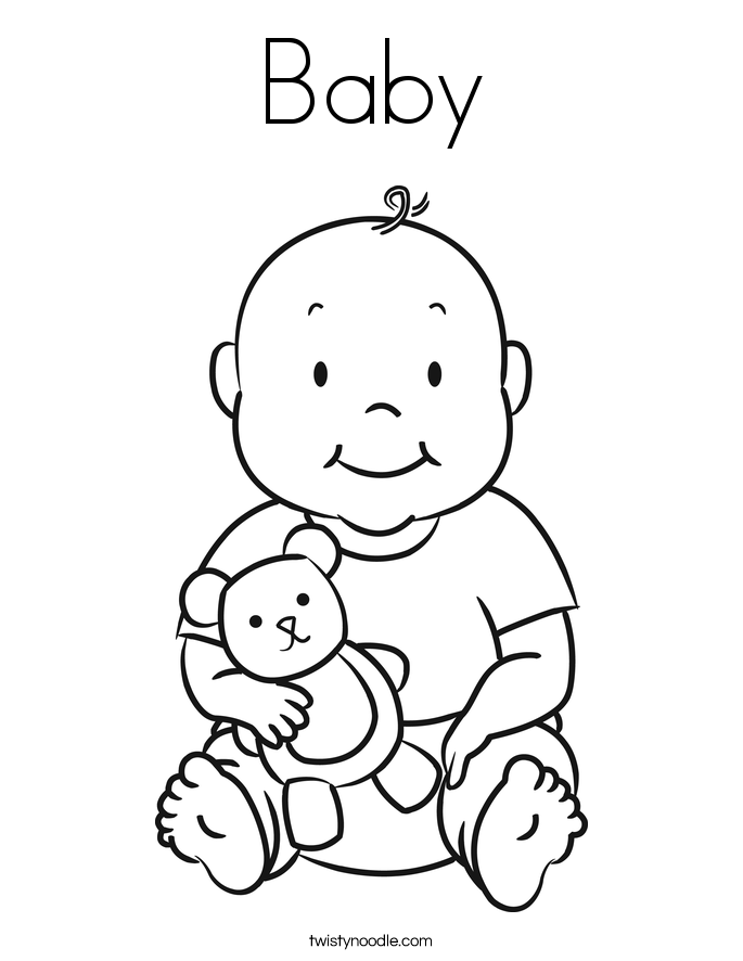685x886 Baby Coloring Page