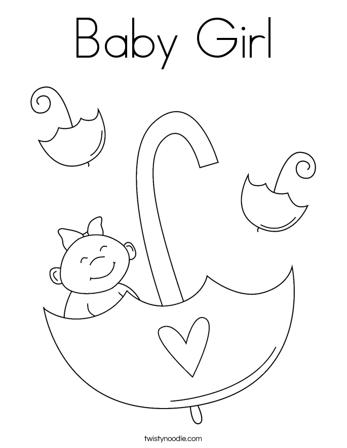 685x886 Baby Girl Coloring Page