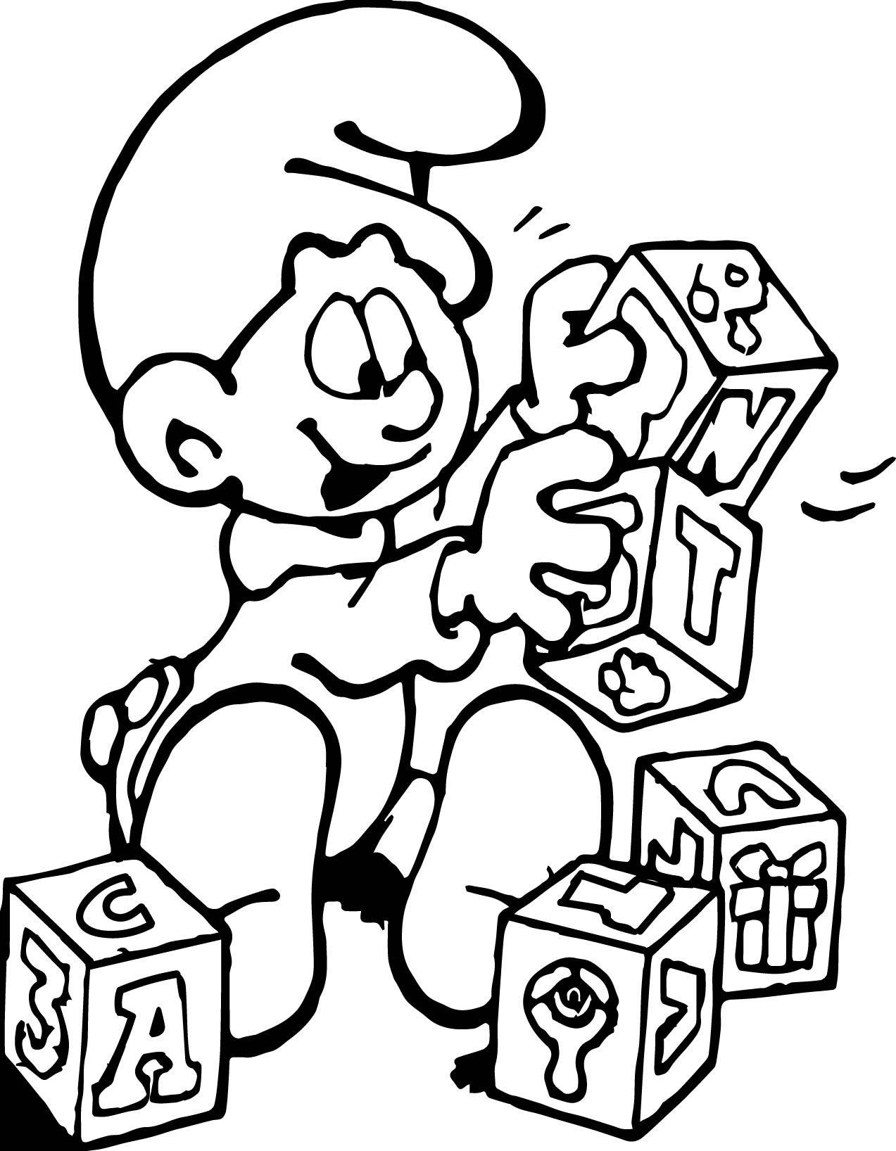 1273x1636 Baby Blocks Coloring Pages