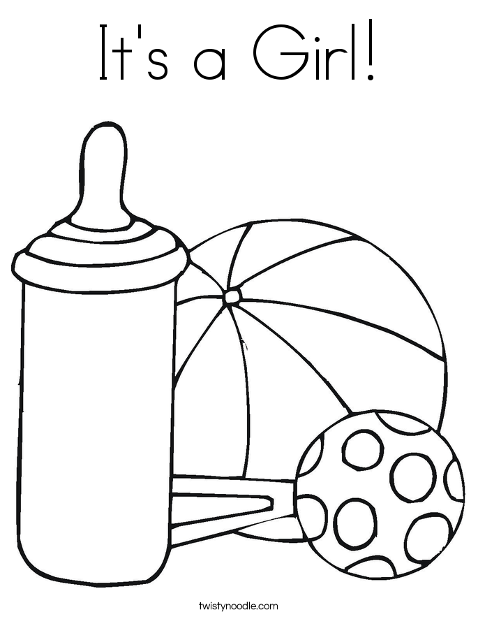 685x886 It's A Girl Coloring Page