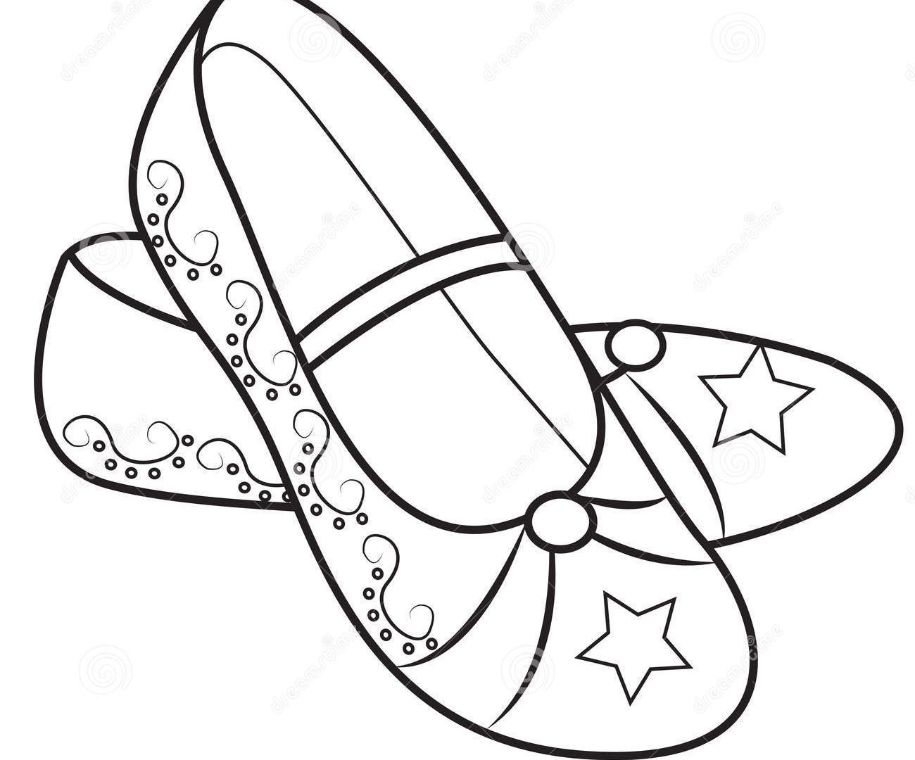 1300x1080 Coloring Pages Shoes