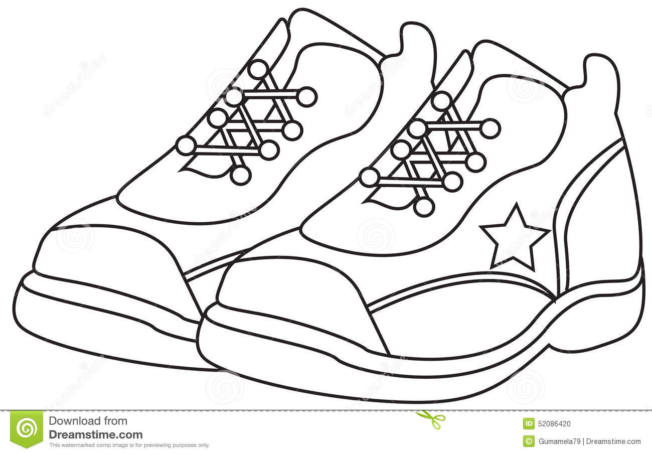 1300x907 Coloring Pages Shoes