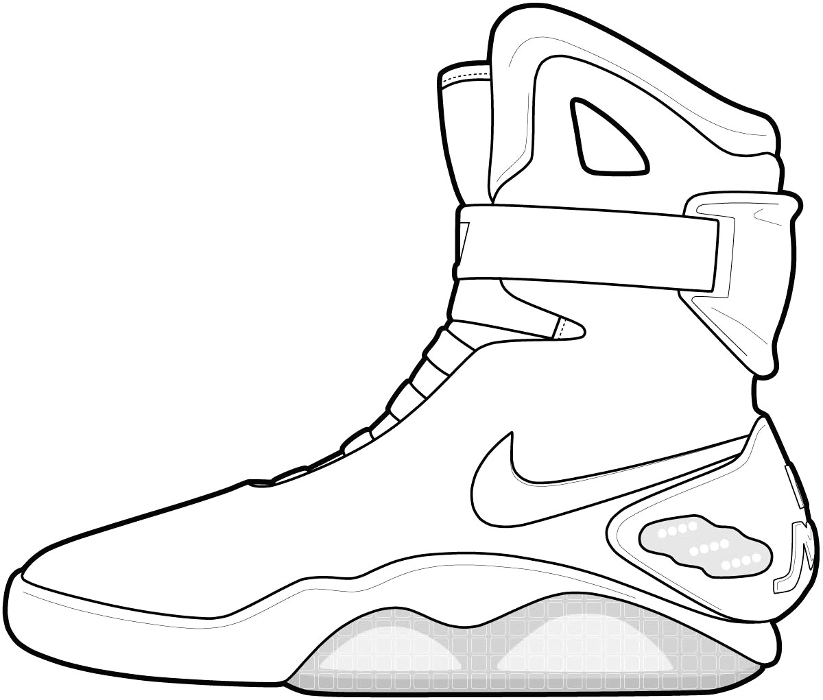 1200x1021 Coloring Pages Shoes Fresh Nike Jordan Sneakers Page