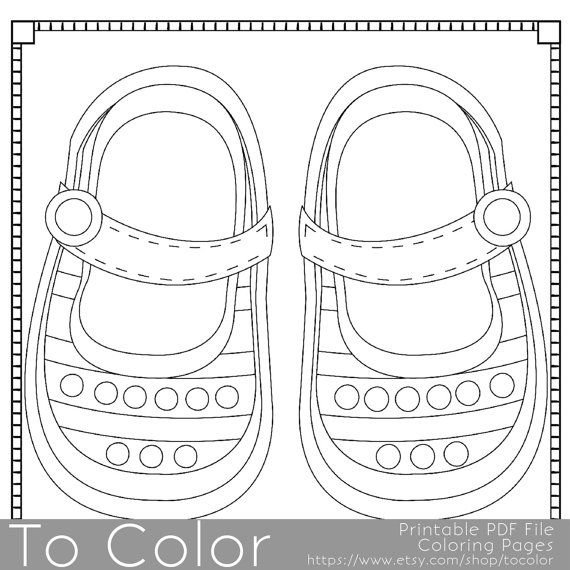 570x570 Line Drawings Of Baby Shoes