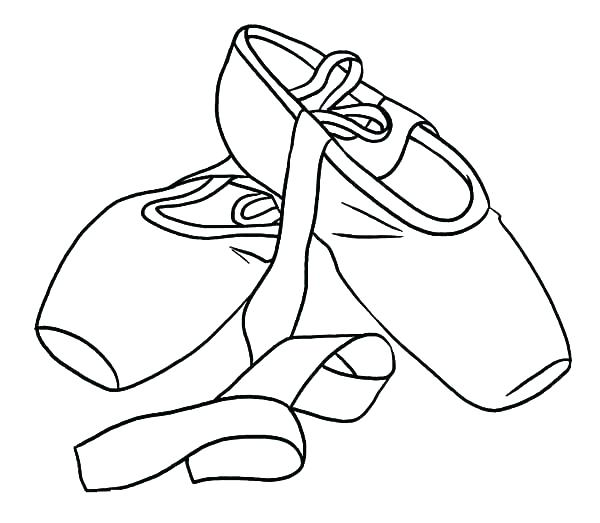 600x523 Ballet Shoe Coloring Sheets Colouring For Snazzy Shoes Coloring