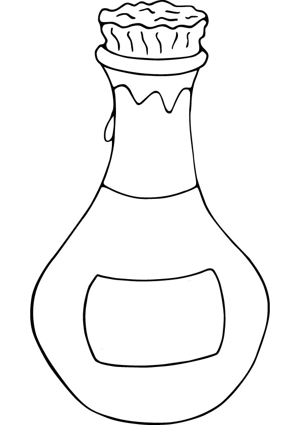 595x842 Bottle Coloring Page