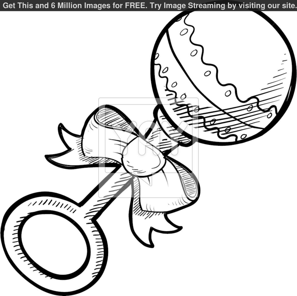 1210x1206 Baby Rattle Coloring Pages Home Outlines, Baby