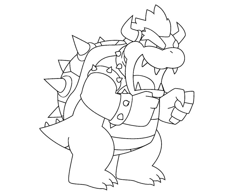 800x667 Baby Bowser Coloring Pages