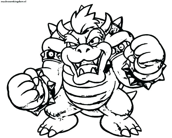 671x537 Bowser Coloring Page Coloring Pages Brothers Coloring Page Medium