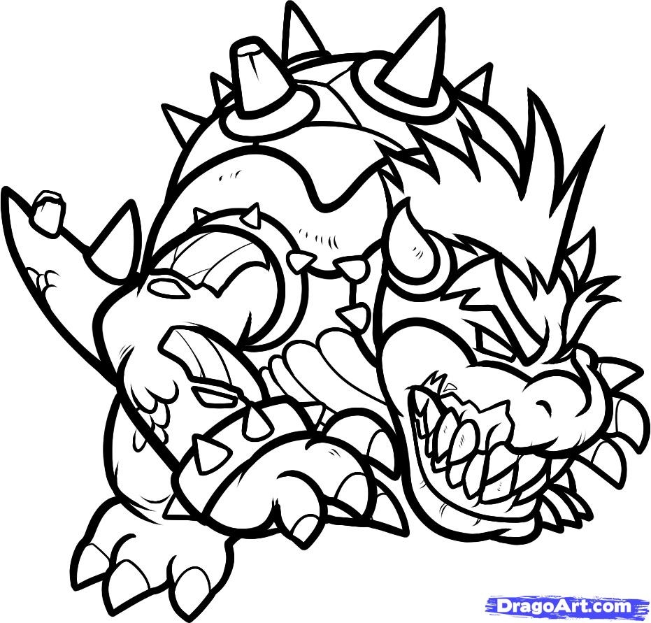 931x891 Bowser Coloring Pages Baby Page Free Printable