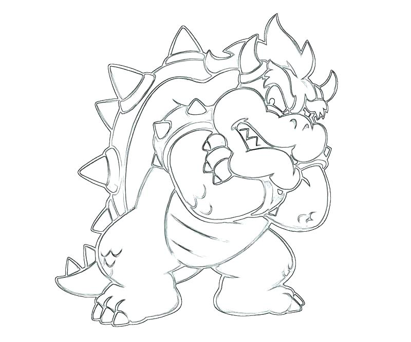 800x667 Bowser Coloring Pages Color Page More Images Of Baby Coloring