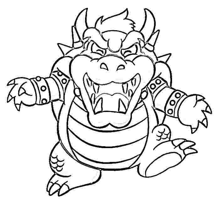 704x636 Bowser Coloring Pages