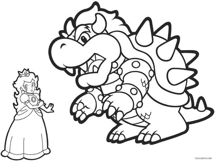 694x521 Printable Princess Peach Coloring Pages For Kids