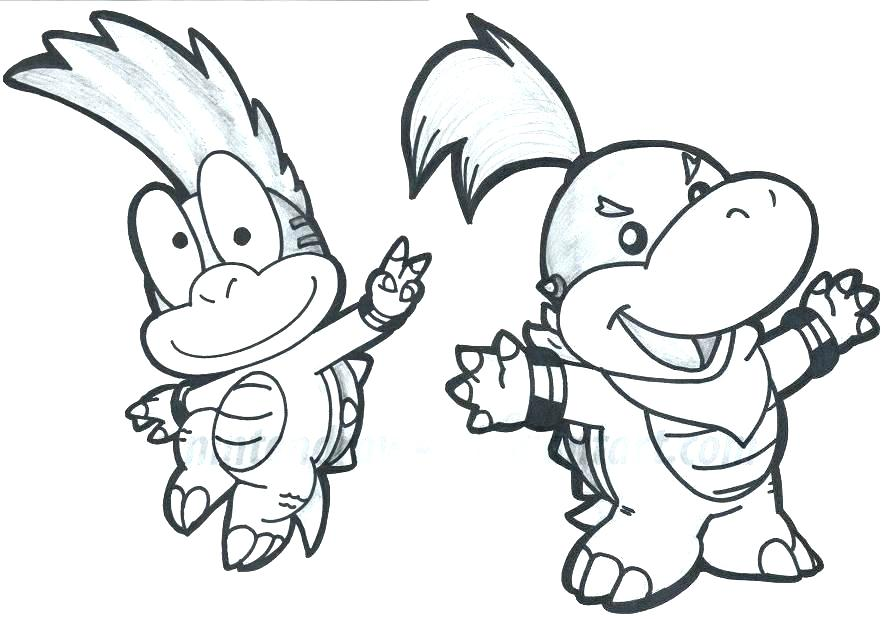 896x619 Bowser Coloring Pages