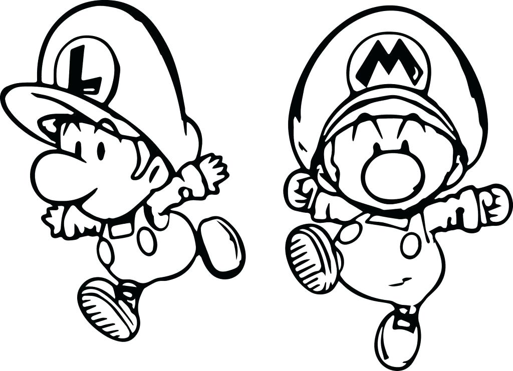1024x741 Baby Luigi Coloring Pages