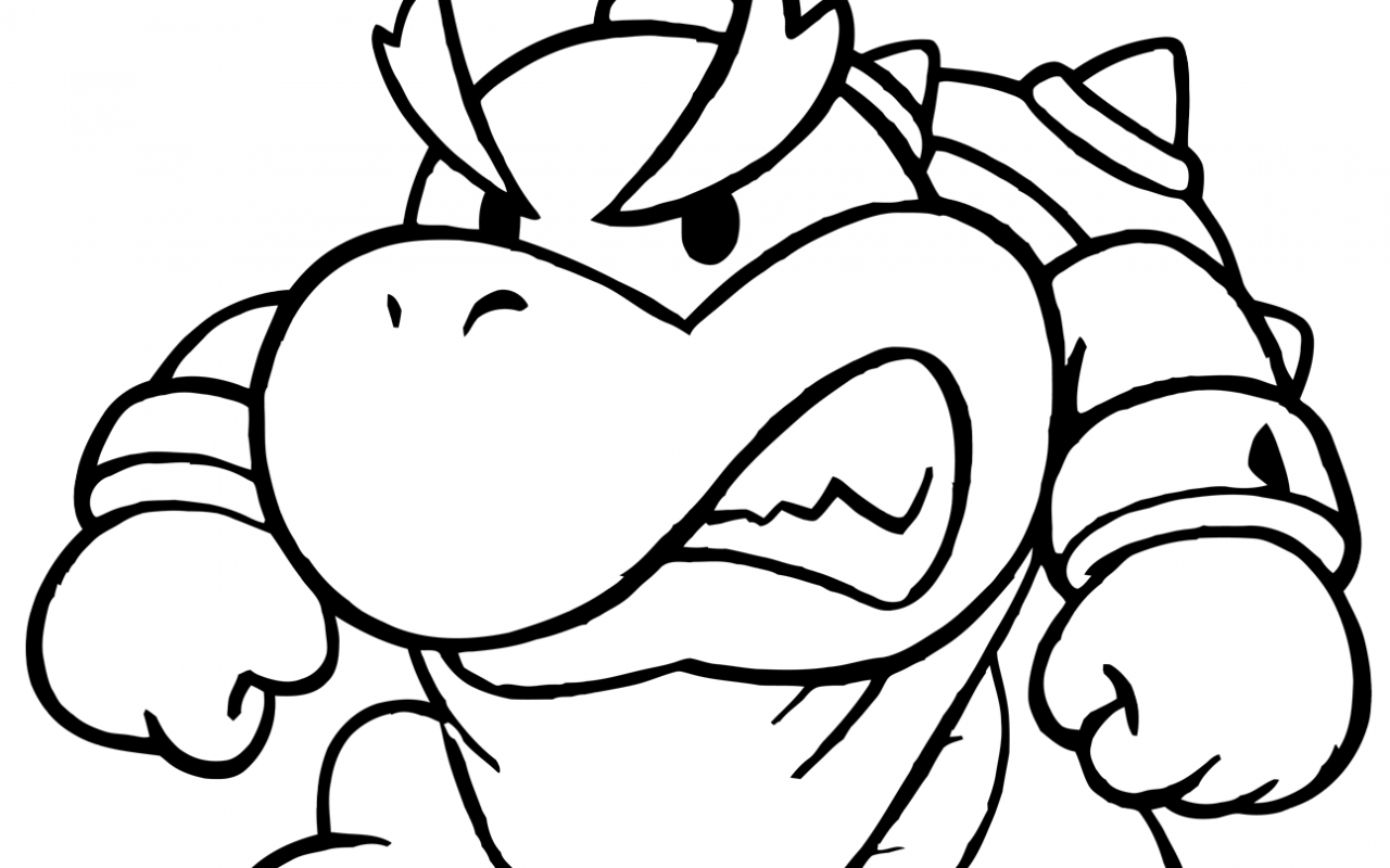 1280x800 Baby Mario Bros And Luigi Coloring Sheet Pages Koopa Troopa Super