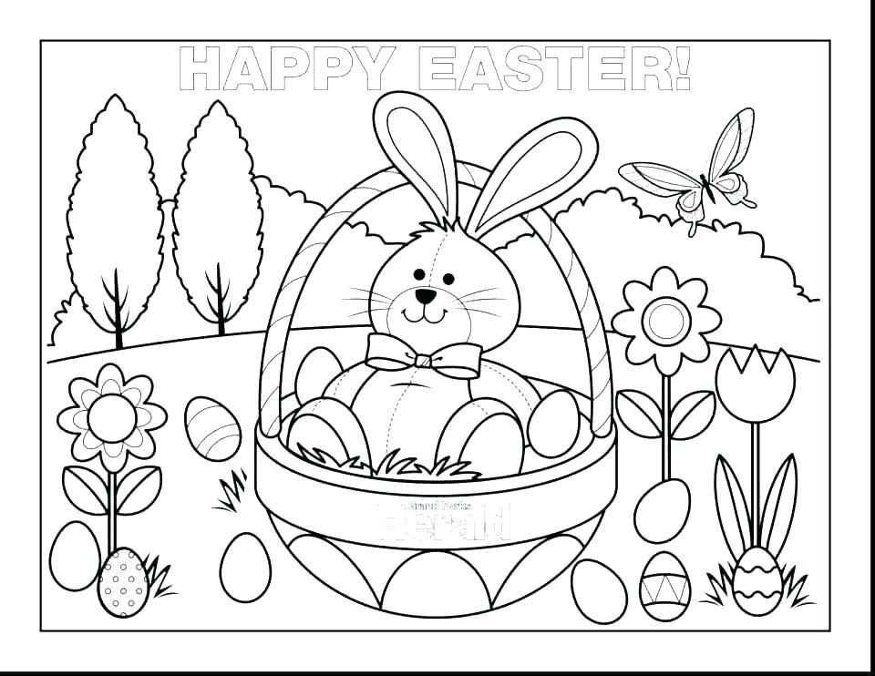 Baby Bunny Coloring Pages Printable At Getdrawings Com Free For