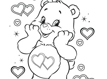 450x334 Care Bear Coloring Pages Care Bears Coloring Books Also Care Bears