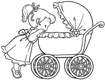 Baby Carriage Coloring Page